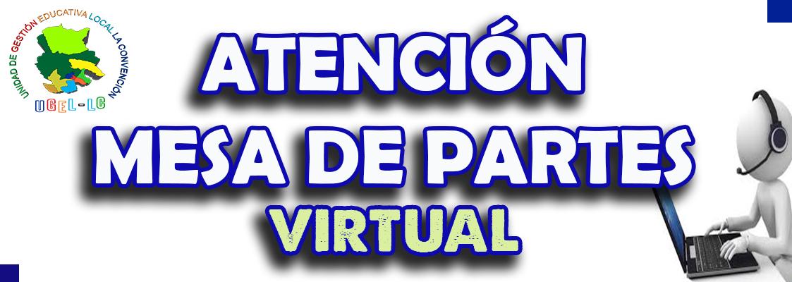 ATENCIÓN MESA DE PARTES
