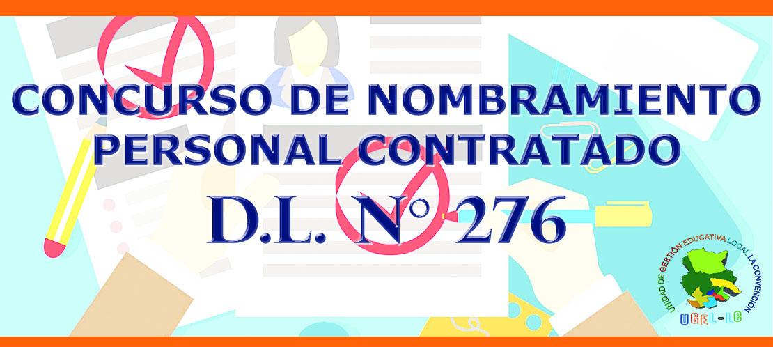 PROCESO DE NOMBRAMIENTO DL 276 - 2019