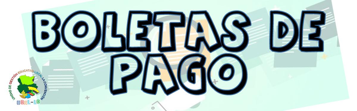 ATENCIÓN BOLETAS DE PAGO