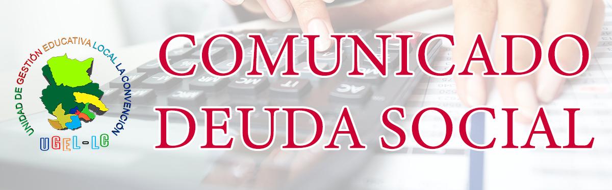 COMUNICADO DEUDA SOCIAL