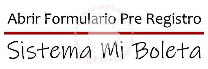 FORMULARIO WEB SISTEMA MI BOLETA