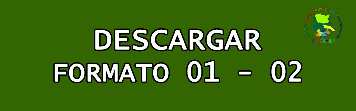 DESCARGAR FORMATO 01 - 02